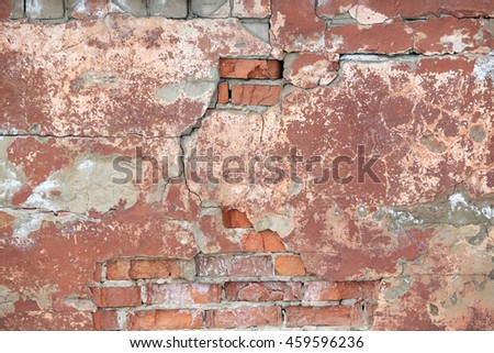 macro background texture painted wall red