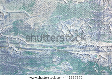 Macro Blue and White Paint Textures 4 - stock photo