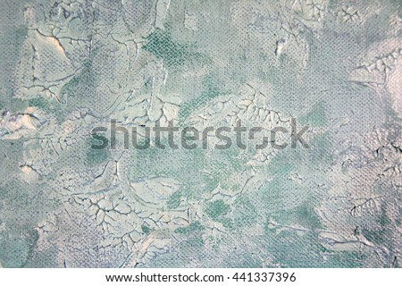 Macro Blue and White Paint Textures 6 - stock photo