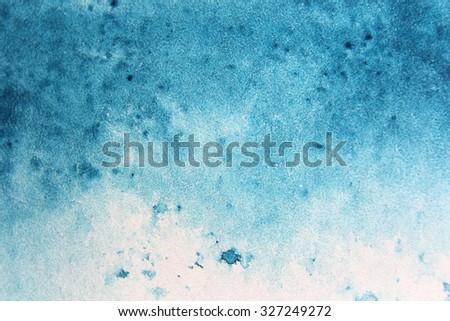 Macro Blue Misty Watercolor - stock photo