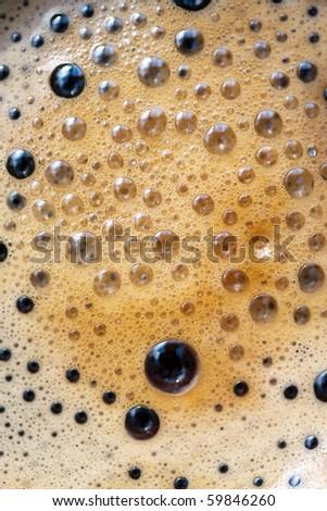 Macro buble coffe - stock photo