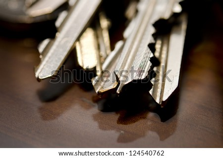 Macro Bunch of keys - stock photo