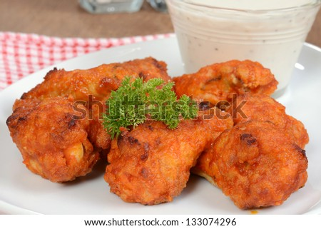 Macro chicken wings
