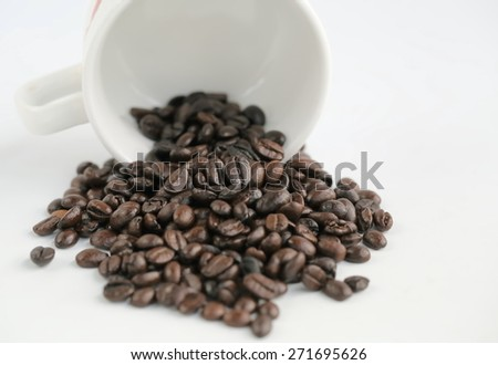 macro coffee and bean