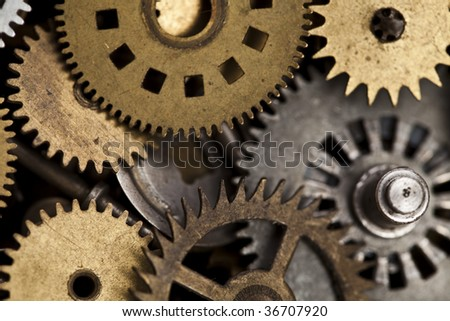 Macro detail of old gears