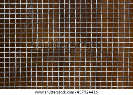 Macro Dusty Window Screen