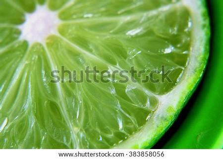 Macro Electric Lime  - stock photo