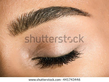 macro eye photo - stock photo