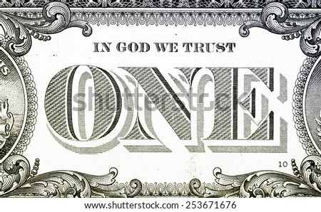 Macro image of a dollar - stock photo