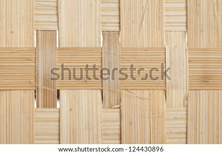 Macro image of a woven bamboo as background
