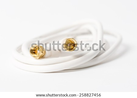 Macro of a coaxial cable - Shallow depth of field - stock photo