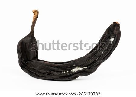 Macro of a rotten banana - Shallow depth of field - stock photo