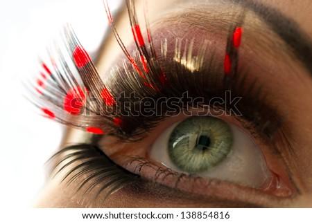 Macro of Beautiful Makeup - stock photo