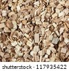Macro of Hickory wood chips or pellets for hickory smoking. - stock photo