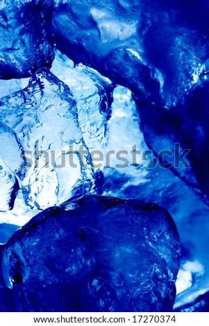 macro of ice - stock photo