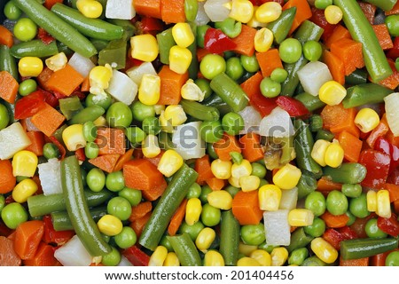 macro of mixed vegetables for background use - stock photo