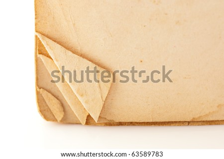 Macro of old book pages. Shallow DOF - stock photo