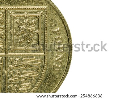 Macro of One Pound Coin (with room for copy)