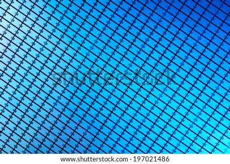 Macro of silicon wafer - stock photo
