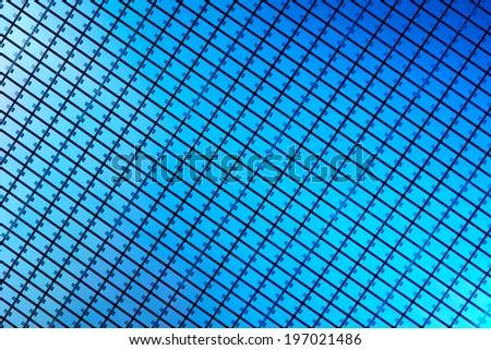 Macro of silicon wafer - stock photo
