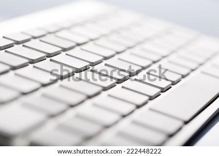 Macro of Wireless Metallic Keyboard
