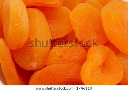 Macro photo of Turkish Apricots - stock photo