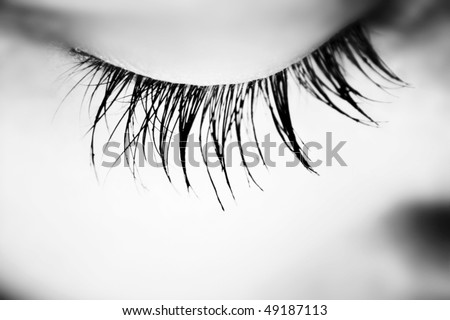 Macro picture of a woman closed eye