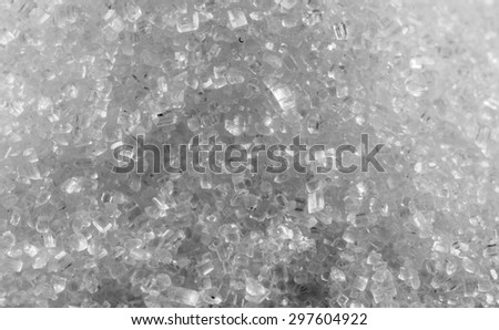 macro pure sugar like a crystal - stock photo
