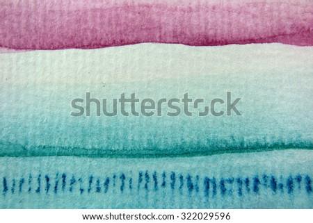 Macro Rainbow Watercolor 1 - stock photo