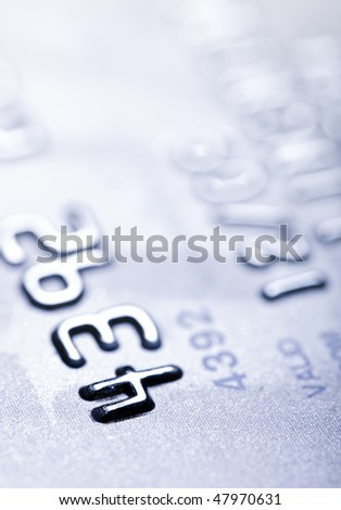 Macro shoot of a credit card. Perfect for background use - stock photo