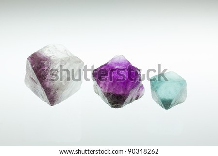 Macro shoot of fluorite crystals - stock photo
