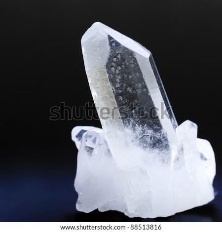 Macro shoot of Quartz crystal See my portfolio for more - stock photo