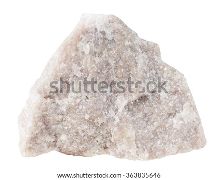 macro shooting of specimen natural rock - Dolomite (dolostone) mineral stone isolated on white background