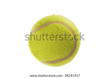 Macro shot of a tennis ball isolated on white