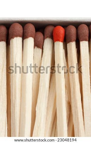 macro shot of matches concept - stock photo