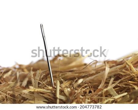 Macro shot of Needle - stock photo