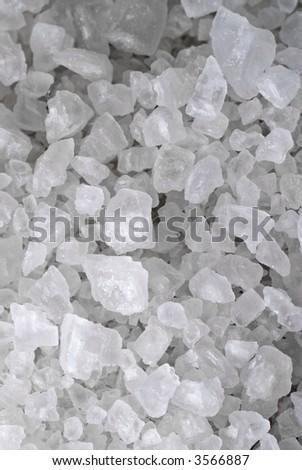macro shot of salt - stock photo