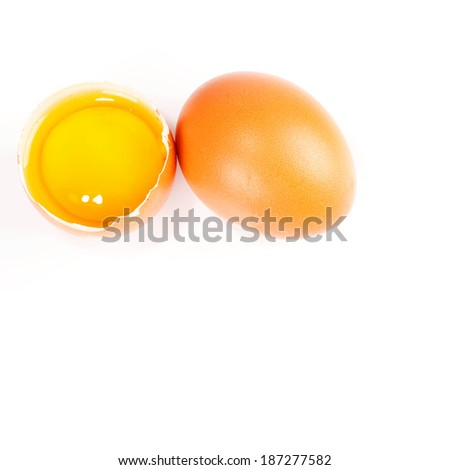 macro shot of two eggs
