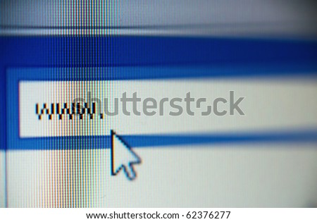 macro shot of www and cursor