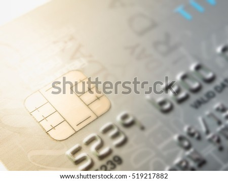Macro shot with credit card