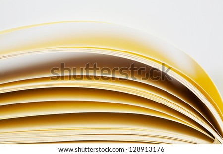 Macro view of notebook pages - stock photo