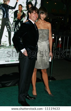 Mad Money Premiere held at Mann Village Theater, Los Angeles Tom Cruise and Katie Holmes - stock photo