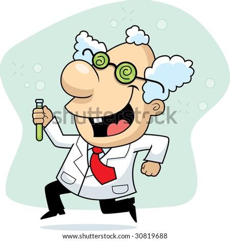 Mad Scientist - stock photo