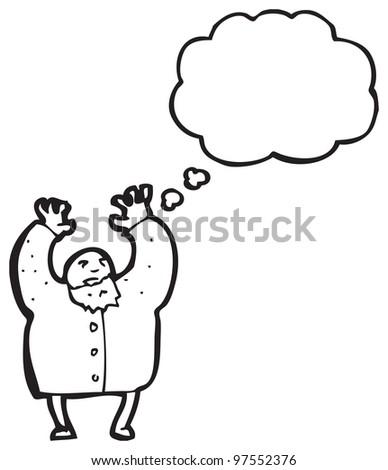 mad scientist cartoon - stock photo