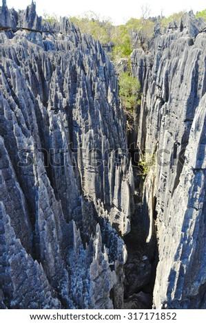 madagascar exotic geology - stock photo