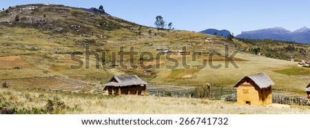 Madagascar landscape - panoramic view