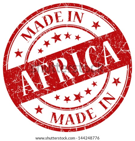 made in africa stamp - stock photo