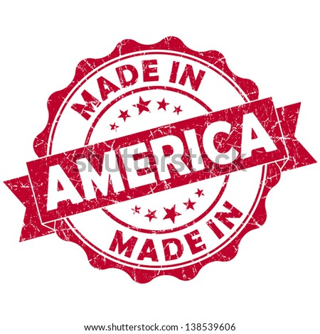 made in america stamp - stock photo