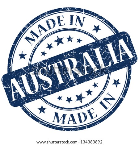 made in australia stamp - stock photo