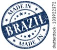 made in brazil stamp - stock vector